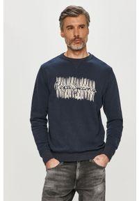Pepe Jeans - Bluza bawełniana Aivin. Okazja: na co dzień. Kolor: niebieski. Materiał: bawełna. Wzór: nadruk. Styl: casual