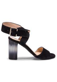 Czarne sandały Oleksy eleganckie