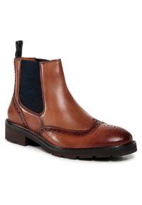 Brązowe buty zimowe Salamander casualowe, na co dzień