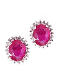 Braccatta - RONA Srebrne kolczyki z rubinami owale 3,0 ct.. Materiał: srebrne. Kolor: srebrny. Kamień szlachetny: rubin