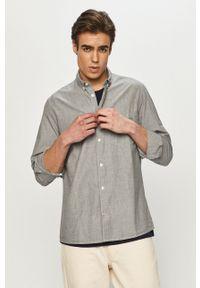 Lee - Koszula. Typ kołnierza: button down. Kolor: szary. Materiał: tkanina. Długość rękawa: długi rękaw. Długość: długie. Wzór: gładki
