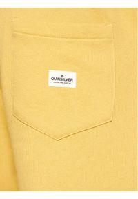 Quiksilver Szorty sportowe Essen Tials Terry EQYFB03206 Żółty Regular Fit. Kolor: żółty