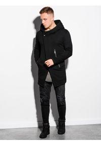 Ombre Clothing - Bluza męska rozpinana z kapturem B668 HUGO - czarna - XXL. Typ kołnierza: kaptur. Kolor: czarny. Materiał: bawełna, poliester. Styl: klasyczny, elegancki #3