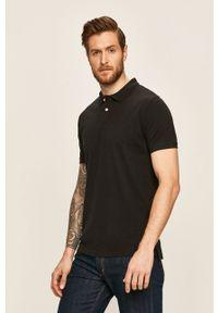 Czarna koszulka polo Pepe Jeans krótka, polo