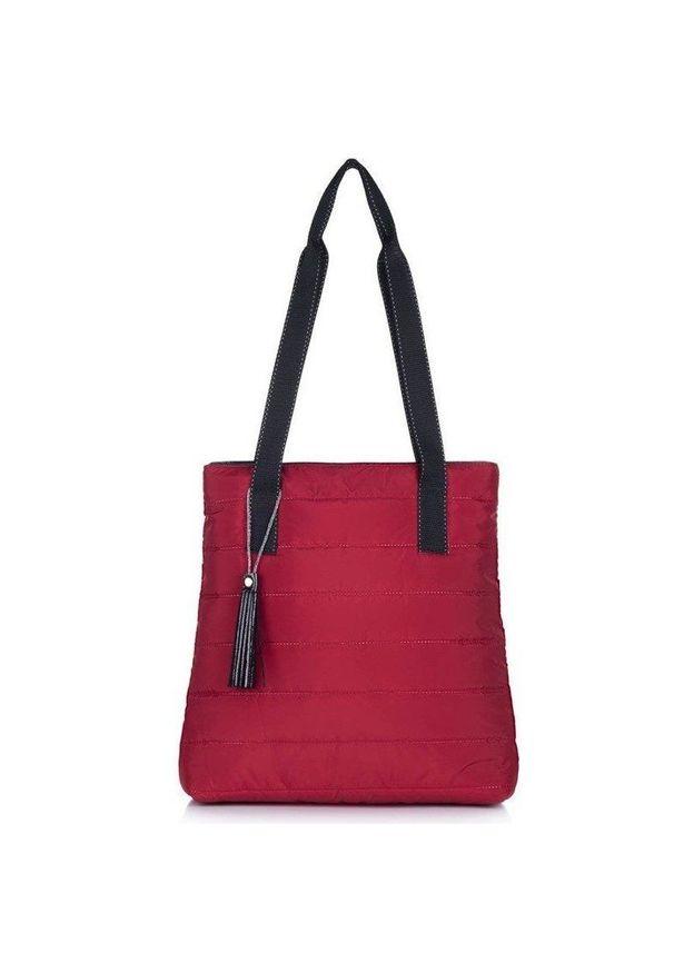 Czerwona torebka FELICE elegancka, pikowana