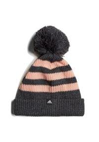 Adidas - Czapka adidas Striped DJ2241. Materiał: bawełna, poliakryl, dzianina, polar. Sezon: zima. Styl: klasyczny