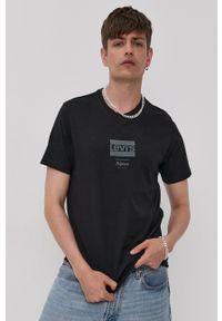 Levi's® - Levi's - T-shirt. Okazja: na co dzień, na spotkanie biznesowe. Kolor: czarny. Materiał: dzianina. Wzór: nadruk. Styl: biznesowy, casual