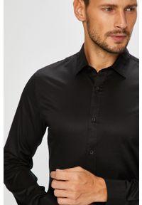 Czarna koszula Only & Sons długa, z włoskim kołnierzykiem, na co dzień, casualowa
