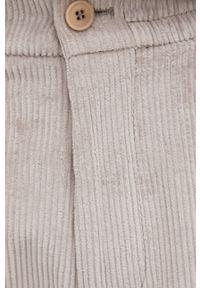 Drykorn - Spodnie sztruksowe Chasy. Kolor: szary. Materiał: sztruks