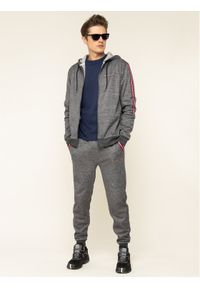 Tommy Sport Bluza Classics Fleece S20S200327 Szary Regular Fit. Kolor: szary. Styl: sportowy