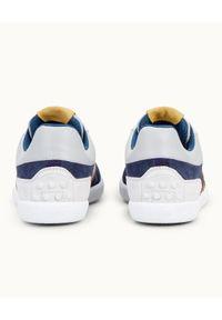 TOD'S - Kolorowe sneakersy z logo. Okazja: na co dzień. Kolor: niebieski. Materiał: zamsz, guma. Wzór: kolorowy. Obcas: na płaskiej podeszwie