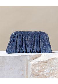 BENEDETTA BRUZZICHES - Niebieska torba do ręki Venus Large Blue. Kolor: niebieski. Wzór: aplikacja. Styl: wizytowy. Rodzaj torebki: do ręki
