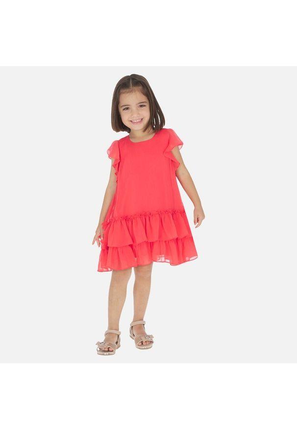 Czerwona sukienka Mayoral elegancka