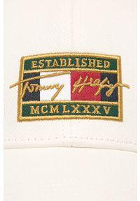 Biała czapka z daszkiem TOMMY HILFIGER z aplikacjami #4