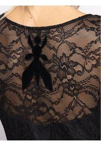 Czarna sukienka koktajlowa Patrizia Pepe wizytowa