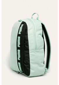 Zielony plecak Puma z nadrukiem
