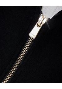 Pinko - PINKO - Czarny żakiet z suwakami Stravisto. Kolor: czarny. Materiał: tkanina. Długość rękawa: długi rękaw. Długość: długie