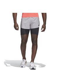 Szare spodenki sportowe Adidas krótkie