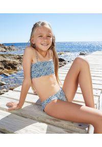 Anna Dziecięcy Dwuczęściowy Kostium Made With Libert Fabric - 4 Lat - Niebieski - Etam. Kolor: niebieski. Wzór: kwiaty