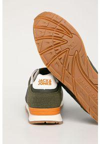 Zielone sneakersy Jack & Jones z cholewką, na sznurówki