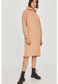 Beżowa sukienka Answear Lab mini, oversize