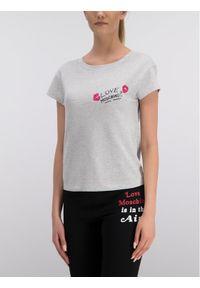 Love Moschino - LOVE MOSCHINO T-Shirt W4F301DM 4071 Regular Fit. Kolor: szary