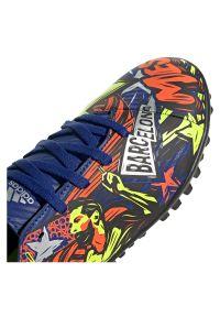 Adidas - Buty piłkarskie dla dzieci adidas Nemeziz Messi 19.4 TF Jr EH0602. Zapięcie: sznurówki. Materiał: guma, materiał, syntetyk. Szerokość cholewki: normalna. Sport: piłka nożna
