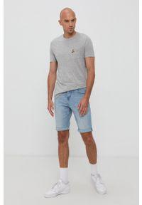 Brave Soul - T-shirt (3-pack). Okazja: na co dzień. Kolor: czarny. Materiał: dzianina. Wzór: aplikacja. Styl: casual