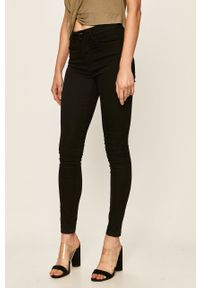 Czarne jeansy Jacqueline de Yong z podwyższonym stanem