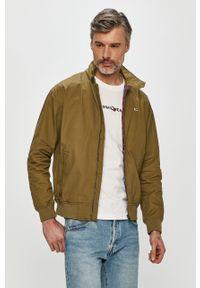 Zielona kurtka Tommy Jeans na co dzień, casualowa