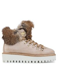 Beżowe buty trekkingowe Bogner