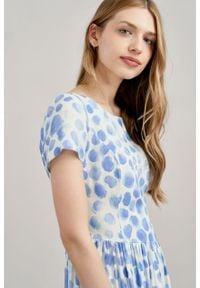Marie Zélie - Sukienka Melania Altrix. Materiał: skóra, bawełna, wiskoza, materiał. Długość rękawa: krótki rękaw