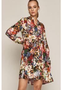 medicine - Medicine - Sukienka Flower Traces. Materiał: tkanina. Długość rękawa: długi rękaw. Typ sukienki: rozkloszowane