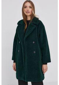 Marella - Płaszcz. Okazja: na co dzień. Kolor: zielony. Materiał: tkanina. Wzór: gładki. Styl: casual