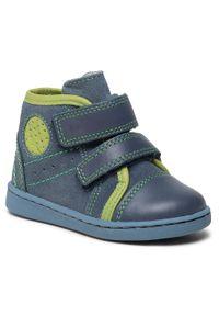RenBut - Trzewiki RENBUT - 13-1423 Jeans Zielony. Kolor: niebieski. Materiał: skóra, zamsz. Szerokość cholewki: normalna