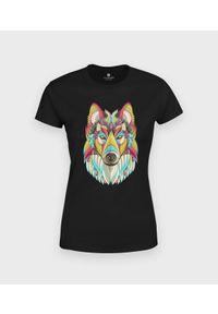 MegaKoszulki - Koszulka damska Ozdobny wilk. Materiał: bawełna