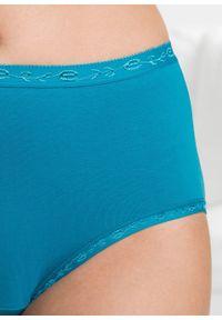 Figi maxi (5 par) bonprix niebieski + jasnoróżowy + turkusowy. Kolor: niebieski