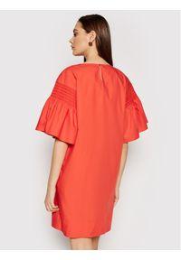Weekend Max Mara Sukienka codzienna Pacos 52212211 Pomarańczowy Regular Fit. Okazja: na co dzień. Kolor: pomarańczowy. Typ sukienki: proste. Styl: casual