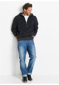 Bluza rozpinana z kapturem bonprix czarny melanż. Typ kołnierza: kaptur. Kolor: czarny. Wzór: melanż