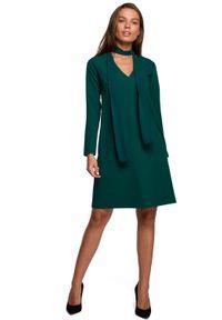 Zielona sukienka MOE trapezowa