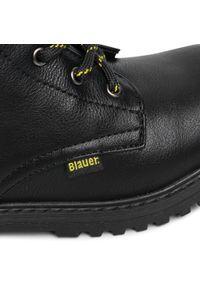 Czarne buty zimowe Blauer z cholewką