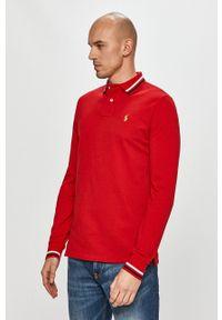Polo Ralph Lauren - Longsleeve. Typ kołnierza: polo. Kolor: czerwony. Długość rękawa: długi rękaw