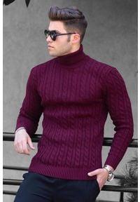 Czerwony sweter IVET na zimę, z golfem