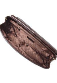 Wittchen - Kopertówka skórzana vintage. Kolor: brązowy. Wzór: gładki. Materiał: skórzane. Styl: vintage. Rodzaj torebki: do ręki