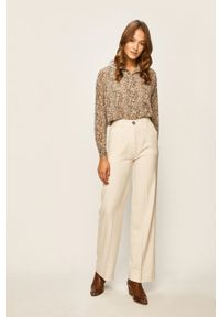Kremowe spodnie materiałowe Pepe Jeans
