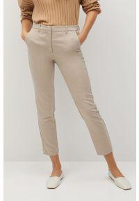 Brązowe spodnie materiałowe mango