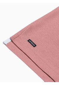 Ombre Clothing - Koszulka męska polo bawełniana S1381 - różowa - XXL. Typ kołnierza: polo. Kolor: różowy. Materiał: bawełna