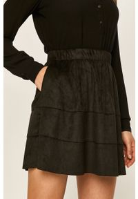 Czarna spódnica Noisy may na co dzień, z podwyższonym stanem, casualowa
