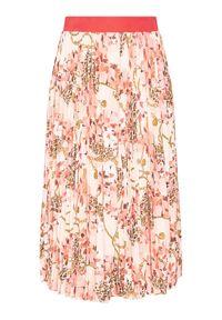 Różowa spódnica Marciano Guess z nadrukiem