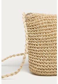 Beżowa torba plażowa ANSWEAR wakacyjna, na ramię, mała